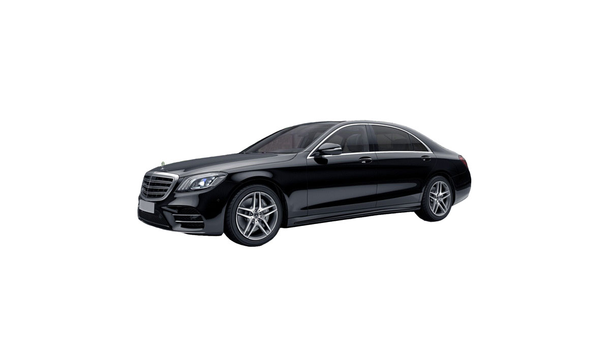 Mercedes S-class with a driver