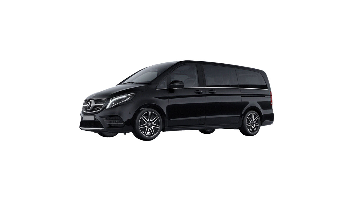 Mercedes V-class with a driver