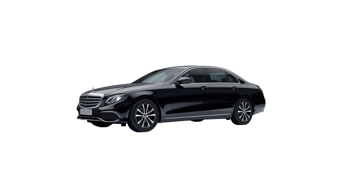 Mercedes E-class with a driver